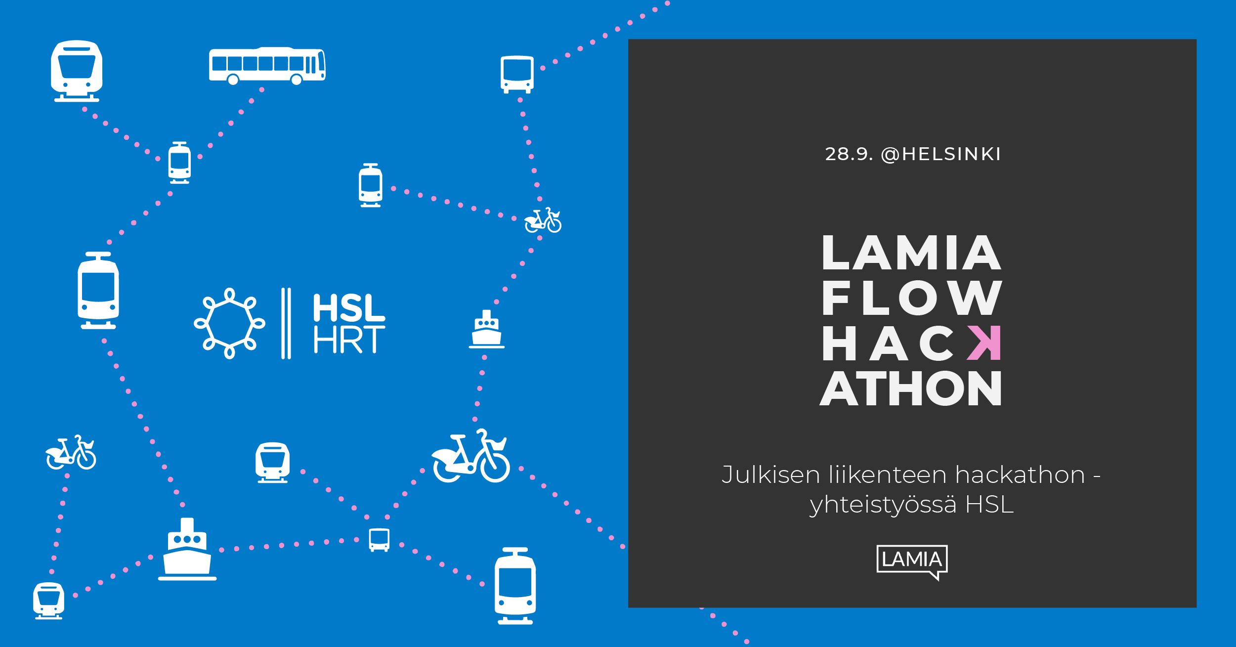 Lamia Flow hackathon 28.9. - yhteistyössä HSL
