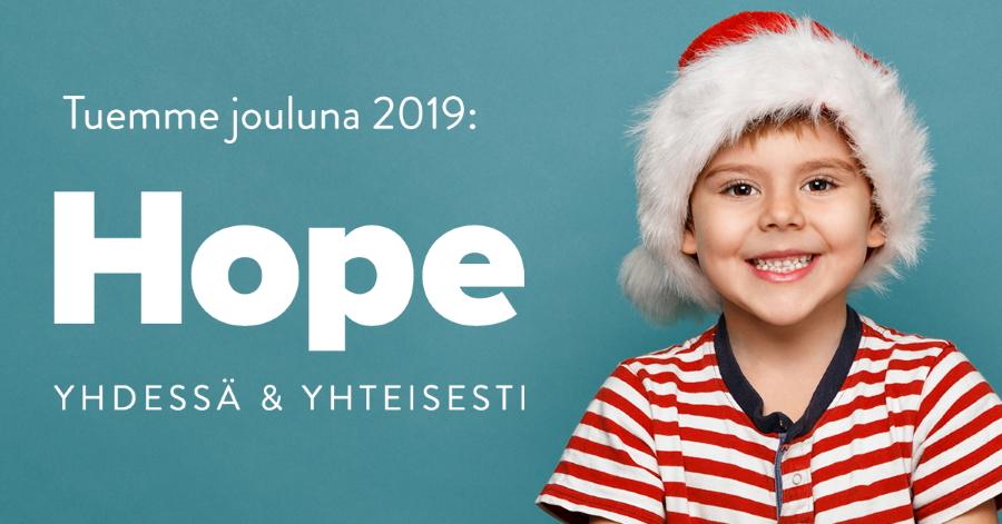 Lamia lahjoitti joululahjat tänä vuonna Hope rylle tukemaan lapsia ja nuoria.